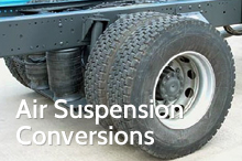 Photography of Air suspension conversions