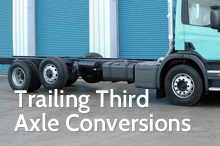 Photography of Trailing third axle conversions