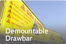 Photography of Demountable drawbar trailer