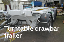 Photography of Turntable drawbar trailer